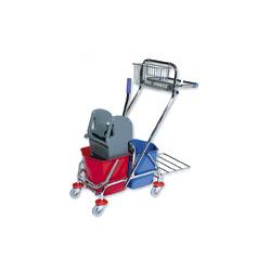 Wózek dwuwiaderkowy 2x17 l. z prasą i akcesoriami