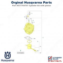 Cylinder pilarki Husqvarna, kompletny